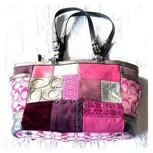 Gorgeous patchwork pink Coach bag